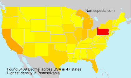 Surname Bechtel in USA