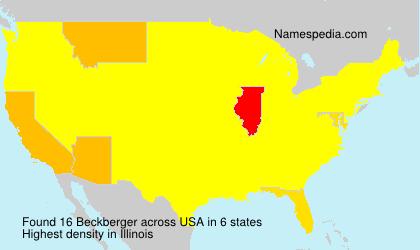 Surname Beckberger in USA