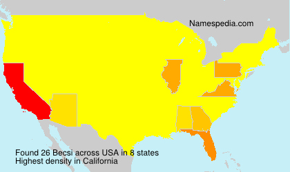 Surname Becsi in USA