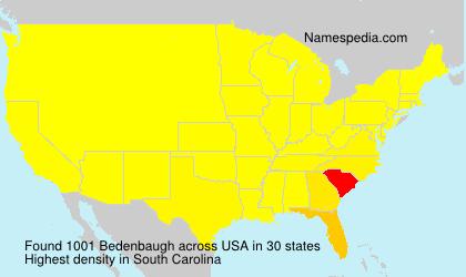 Surname Bedenbaugh in USA