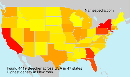 Surname Beecher in USA