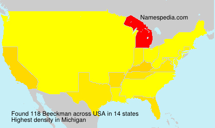 Surname Beeckman in USA
