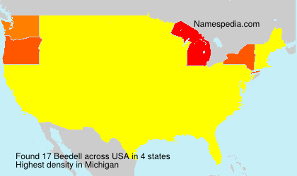 Surname Beedell in USA