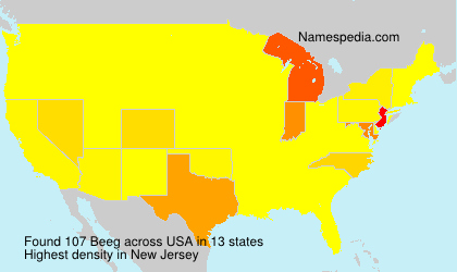 Surname Beeg in USA