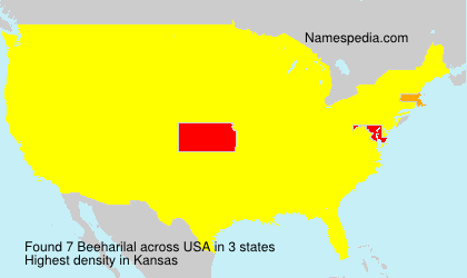 Surname Beeharilal in USA