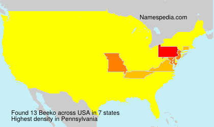 Surname Beeko in USA