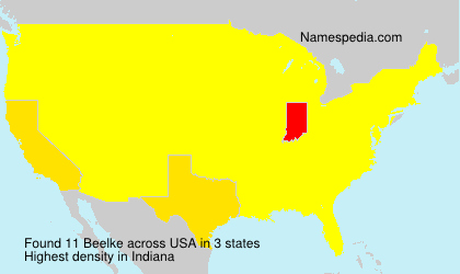 Surname Beelke in USA