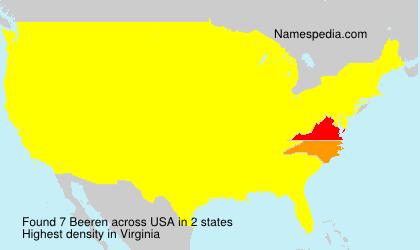 Surname Beeren in USA