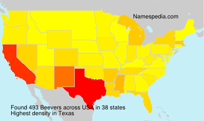 Surname Beevers in USA