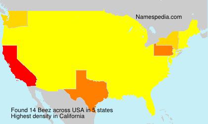 Familiennamen Beez - USA