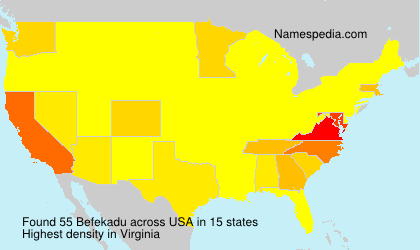 Surname Befekadu in USA