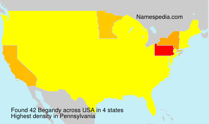 Surname Begandy in USA
