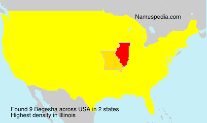 Surname Begesha in USA