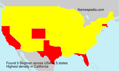 Surname Begman in USA