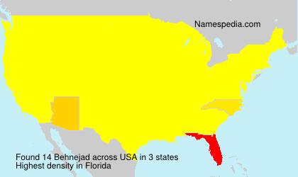 Familiennamen Behnejad - USA