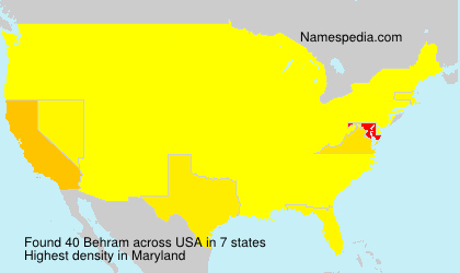 Surname Behram in USA