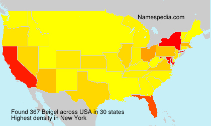 Surname Beigel in USA