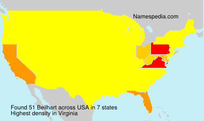 Surname Beilhart in USA