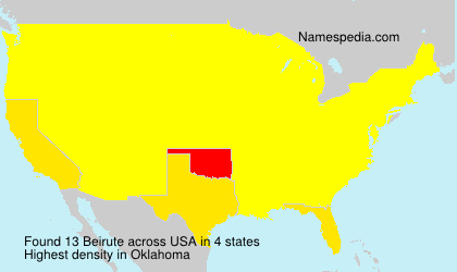 Surname Beirute in USA
