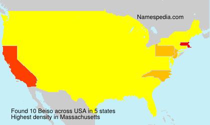 Familiennamen Beiso - USA