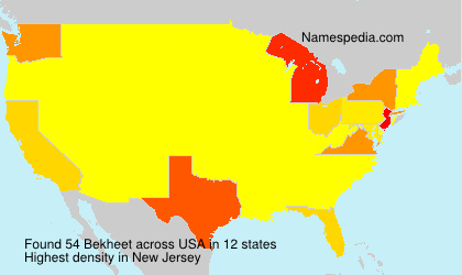Surname Bekheet in USA