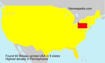 Surname Belajac in USA