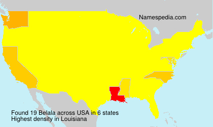 Surname Belala in USA