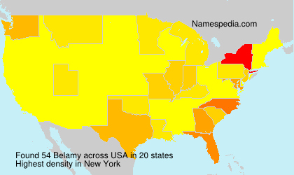 Surname Belamy in USA
