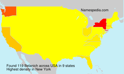 Surname Belanich in USA