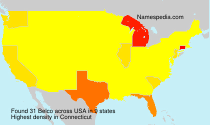 Surname Belco in USA