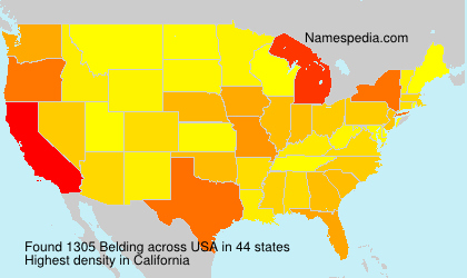 Surname Belding in USA