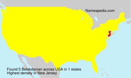 Familiennamen Belekdanian - USA