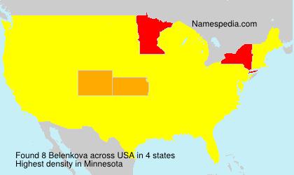 Familiennamen Belenkova - USA