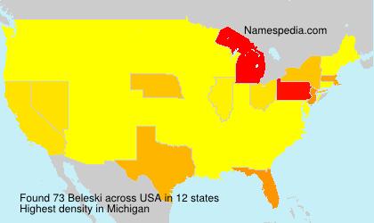 Surname Beleski in USA
