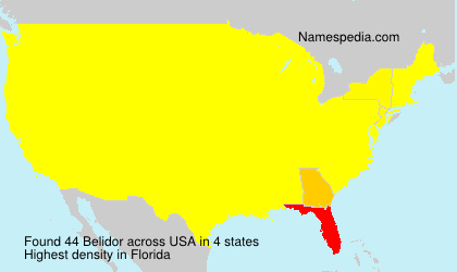 Surname Belidor in USA