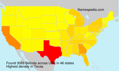 Surname Belinda in USA