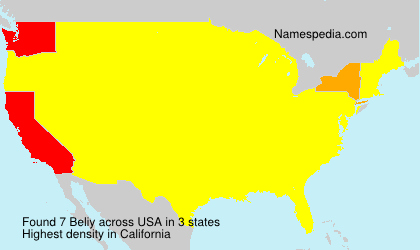 Surname Beliy in USA