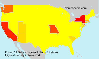 Surname Beljean in USA