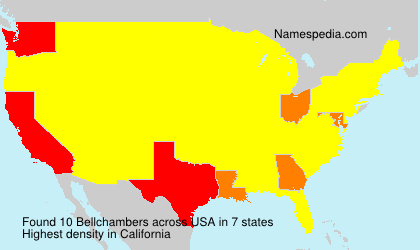 Surname Bellchambers in USA