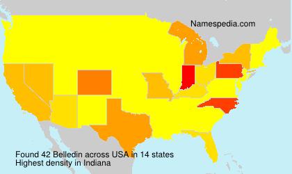 Surname Belledin in USA