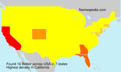 Surname Bellier in USA