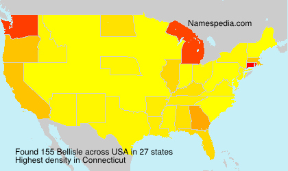 Surname Bellisle in USA