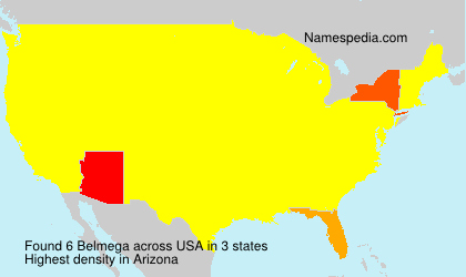 Surname Belmega in USA