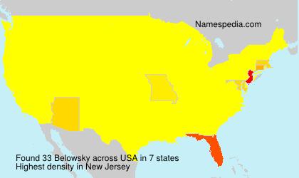 Surname Belowsky in USA