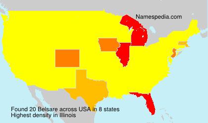 Familiennamen Belsare - USA