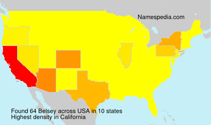 Surname Belsey in USA