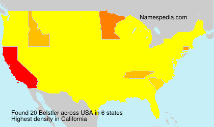 Surname Belstler in USA