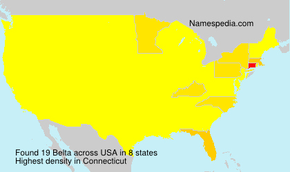 Surname Belta in USA