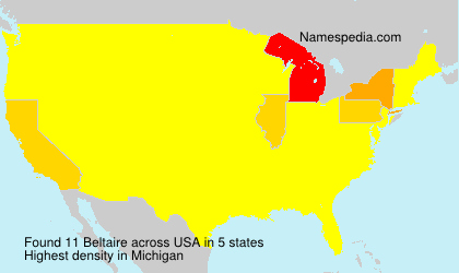 Surname Beltaire in USA