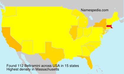 Familiennamen Beltramini - USA